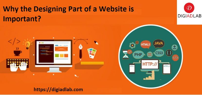 Why the designing part of a website is important?
